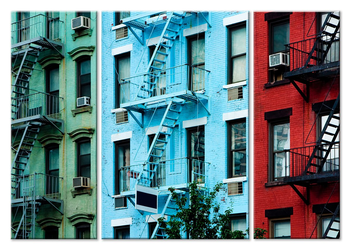 Модульная картина «Три дома»Города<br>Модульная картина на натуральном холсте и деревянном подрамнике. Подвес в комплекте. Трехслойная надежная упаковка. Доставим в любую точку России. Вам осталось только повесить картину на стену!<br>
