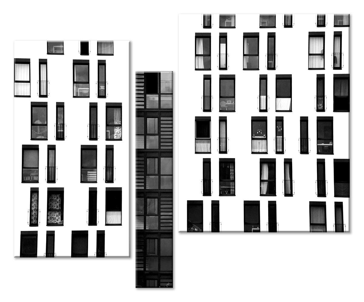 Модульная картина «Архитектура новостроек»Города<br>Модульная картина на натуральном холсте и деревянном подрамнике. Подвес в комплекте. Трехслойная надежная упаковка. Доставим в любую точку России. Вам осталось только повесить картину на стену!<br>