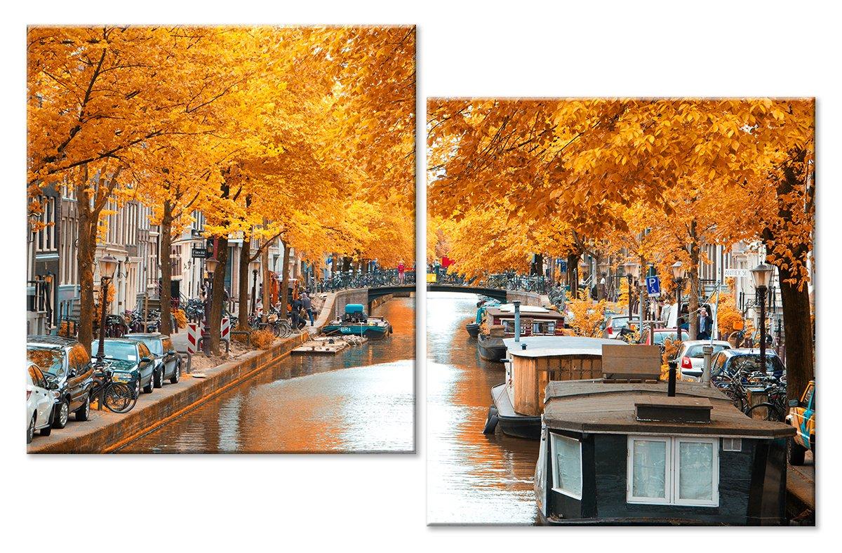 Модульная картина «Осень в Голландии»Города<br>Модульная картина на натуральном холсте и деревянном подрамнике. Подвес в комплекте. Трехслойная надежная упаковка. Доставим в любую точку России. Вам осталось только повесить картину на стену!<br>