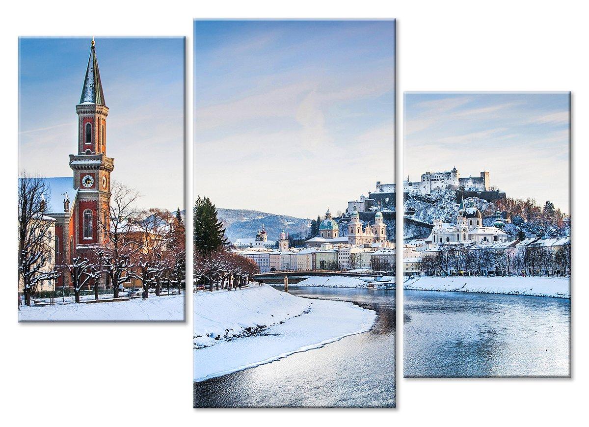 Модульная картина «Город зимой»Города<br>Модульная картина на натуральном холсте и деревянном подрамнике. Подвес в комплекте. Трехслойная надежная упаковка. Доставим в любую точку России. Вам осталось только повесить картину на стену!<br>