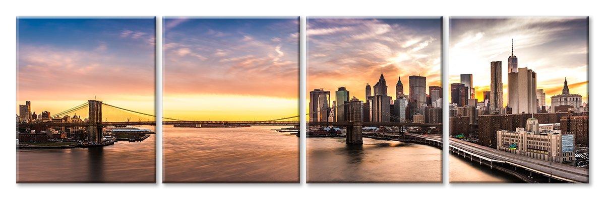Модульная картина «Нью-Йорк», 151x50 см, модульная картинаГорода<br>Модульная картина на натуральном холсте и деревянном подрамнике. Подвес в комплекте. Трехслойная надежная упаковка. Доставим в любую точку России. Вам осталось только повесить картину на стену!<br>