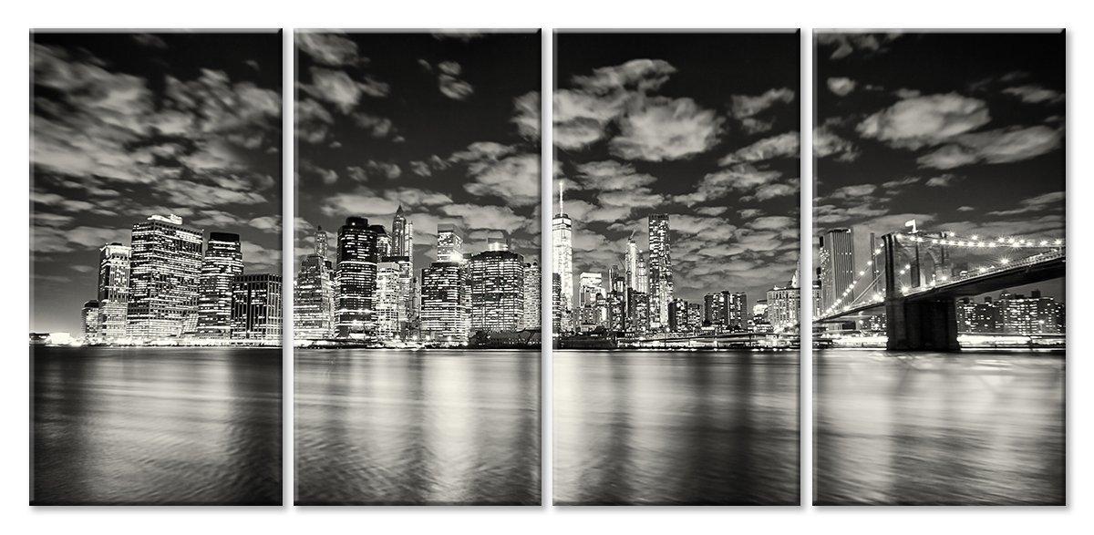 Модульная картина «Вечерние огни Нью-Йорка»Города<br>Модульная картина на натуральном холсте и деревянном подрамнике. Подвес в комплекте. Трехслойная надежная упаковка. Доставим в любую точку России. Вам осталось только повесить картину на стену!<br>