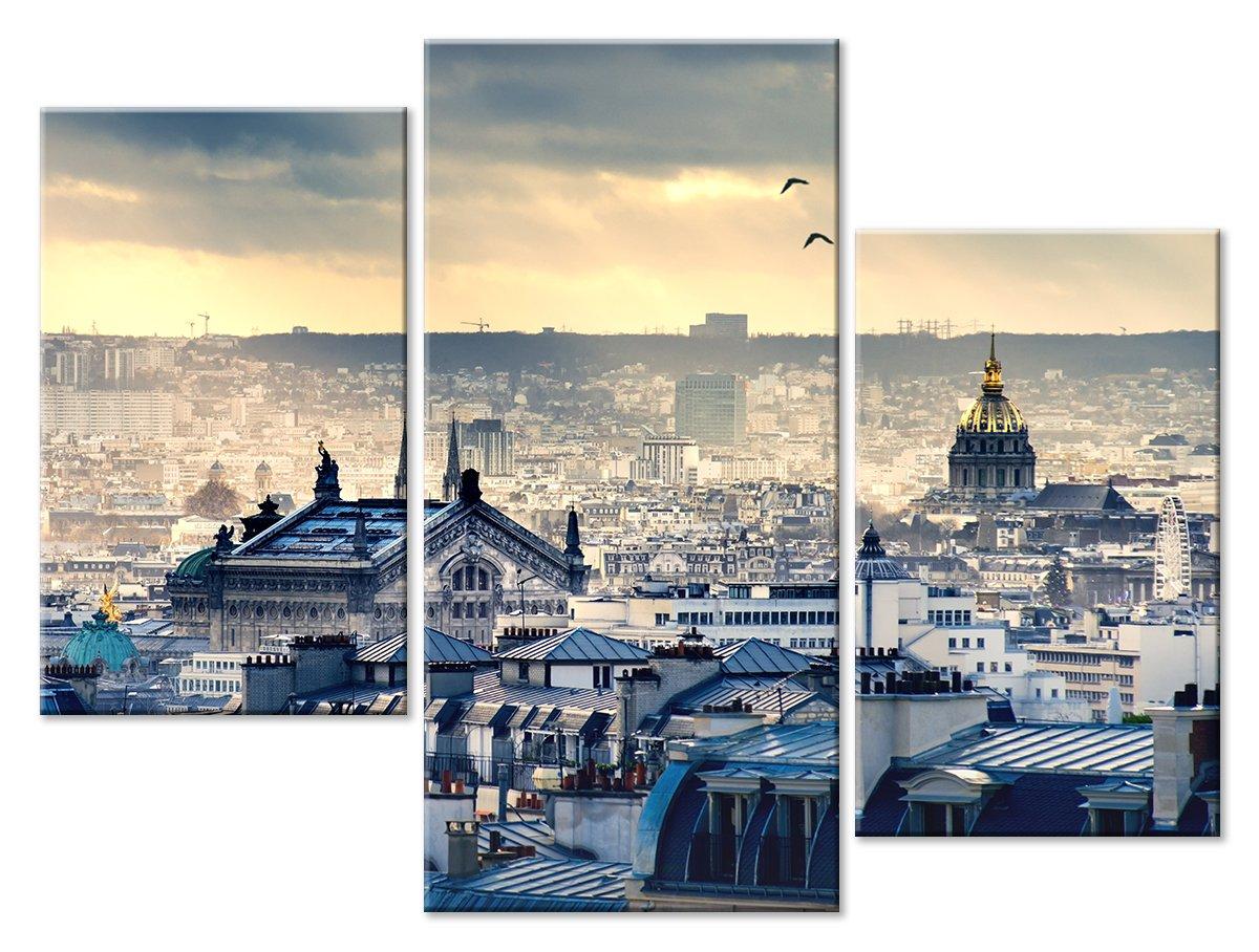 Модульная картина «Крыши Парижа», 66x50 см, модульная картинаГорода<br>Модульная картина на натуральном холсте и деревянном подрамнике. Подвес в комплекте. Трехслойная надежная упаковка. Доставим в любую точку России. Вам осталось только повесить картину на стену!<br>