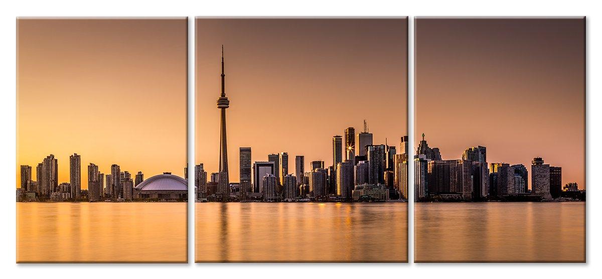 Модульная картина «Торонто», 108x50 см, модульная картинаГорода<br>Модульная картина на натуральном холсте и деревянном подрамнике. Подвес в комплекте. Трехслойная надежная упаковка. Доставим в любую точку России. Вам осталось только повесить картину на стену!<br>