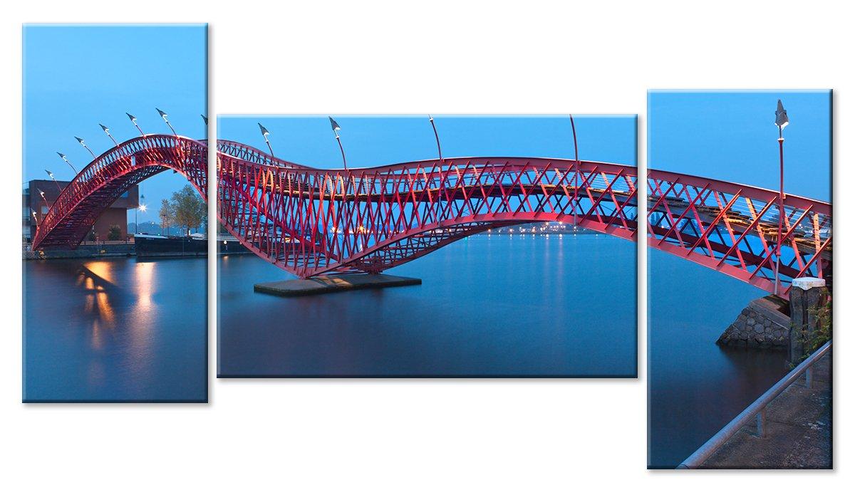 Модульная картина «Пешеходный мост»Города<br>Модульная картина на натуральном холсте и деревянном подрамнике. Подвес в комплекте. Трехслойная надежная упаковка. Доставим в любую точку России. Вам осталось только повесить картину на стену!<br>