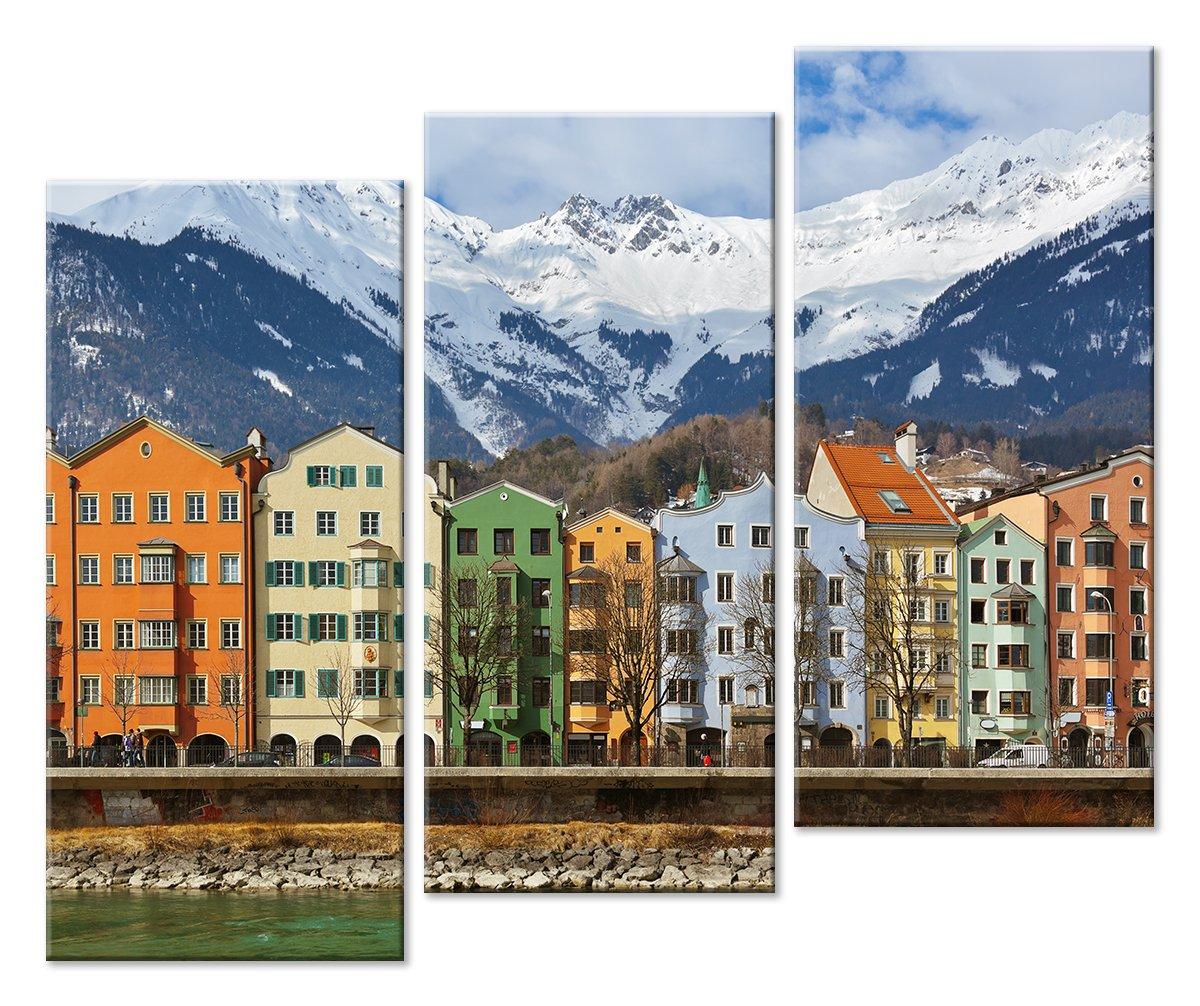 Модульная картина «Город в горах»Города<br>Модульная картина на натуральном холсте и деревянном подрамнике. Подвес в комплекте. Трехслойная надежная упаковка. Доставим в любую точку России. Вам осталось только повесить картину на стену!<br>