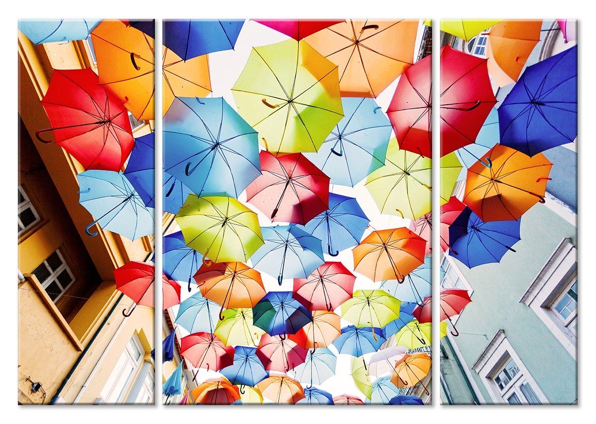 Модульная картина «Море разноцветных зонтов»Города<br>Модульная картина на натуральном холсте и деревянном подрамнике. Подвес в комплекте. Трехслойная надежная упаковка. Доставим в любую точку России. Вам осталось только повесить картину на стену!<br>