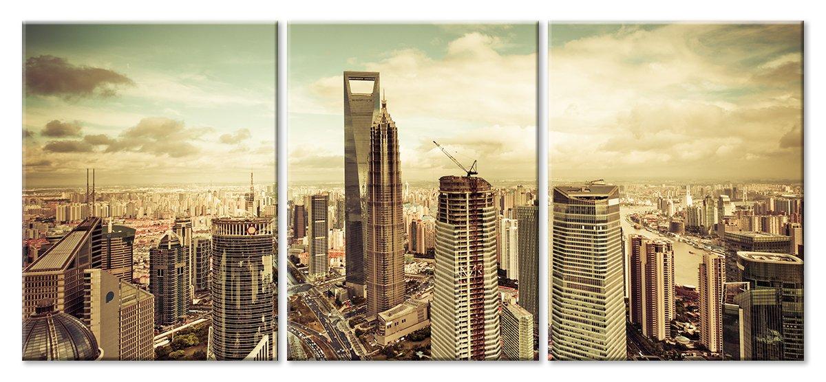 Модульная картина «Небоскребы в Китае»Города<br>Модульная картина на натуральном холсте и деревянном подрамнике. Подвес в комплекте. Трехслойная надежная упаковка. Доставим в любую точку России. Вам осталось только повесить картину на стену!<br>