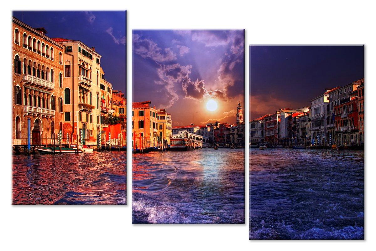 Модульная картина «Солнце за тучей в Венеции»Города<br>Модульная картина на натуральном холсте и деревянном подрамнике. Подвес в комплекте. Трехслойная надежная упаковка. Доставим в любую точку России. Вам осталось только повесить картину на стену!<br>