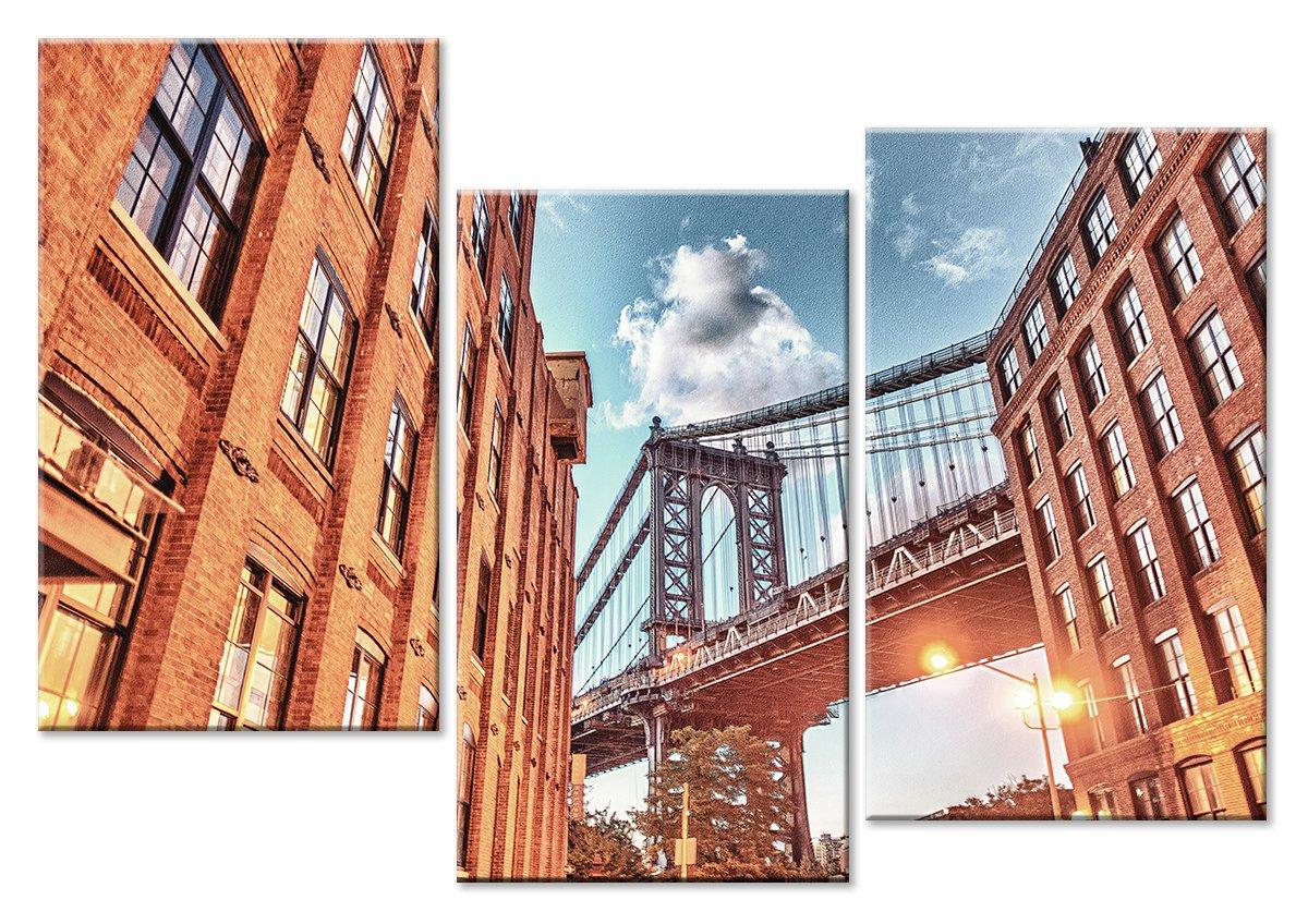 Модульная картина «Архитектура Нью-Йорка»Города<br>Модульная картина на натуральном холсте и деревянном подрамнике. Подвес в комплекте. Трехслойная надежная упаковка. Доставим в любую точку России. Вам осталось только повесить картину на стену!<br>