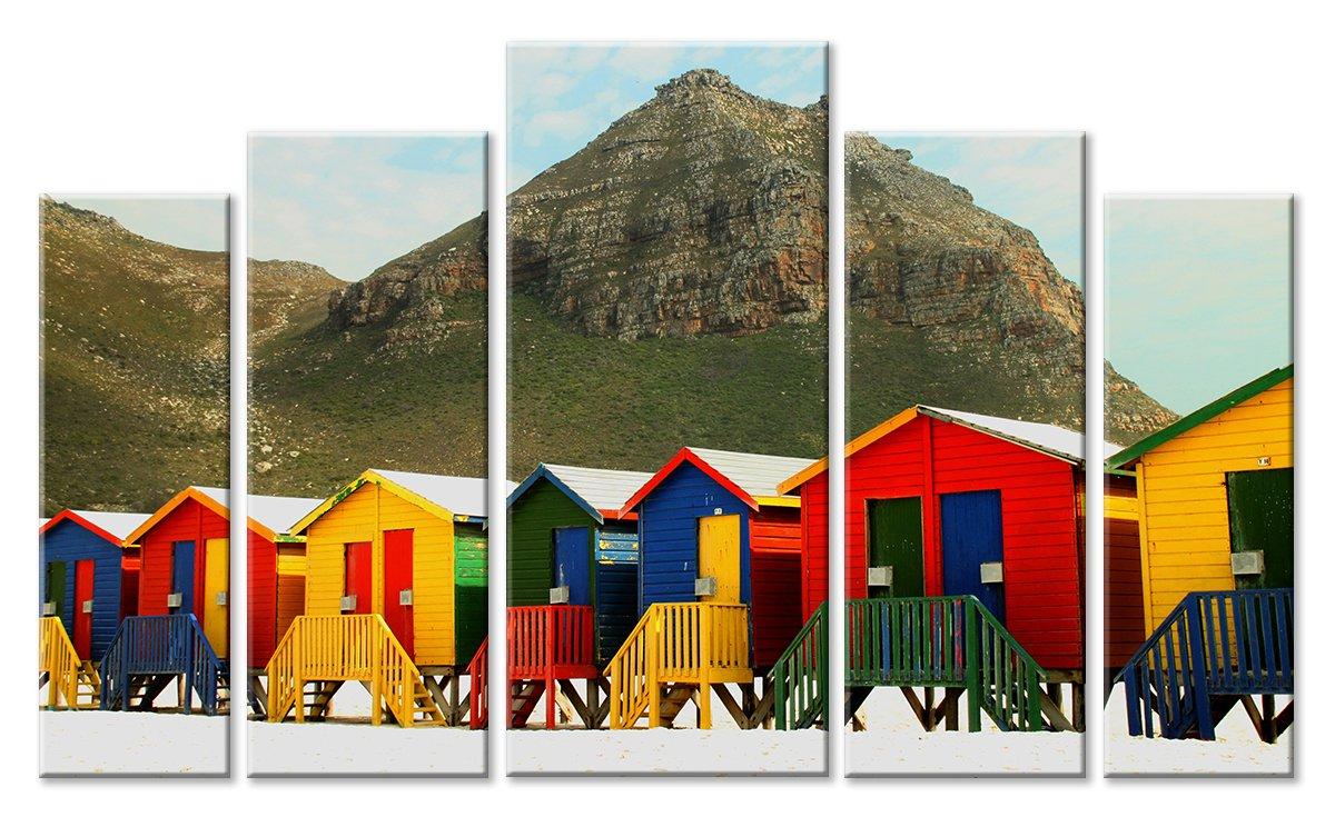 Модульная картина «На пляже»Города<br>Модульная картина на натуральном холсте и деревянном подрамнике. Подвес в комплекте. Трехслойная надежная упаковка. Доставим в любую точку России. Вам осталось только повесить картину на стену!<br>