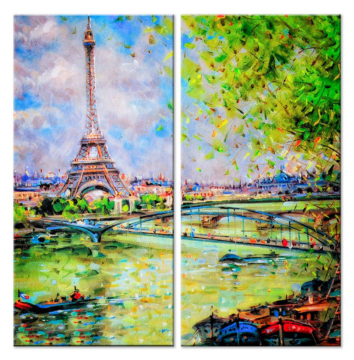 Модульная картина «Весенний Париж»Города<br>Модульная картина на натуральном холсте и деревянном подрамнике. Подвес в комплекте. Трехслойная надежная упаковка. Доставим в любую точку России. Вам осталось только повесить картину на стену!<br>