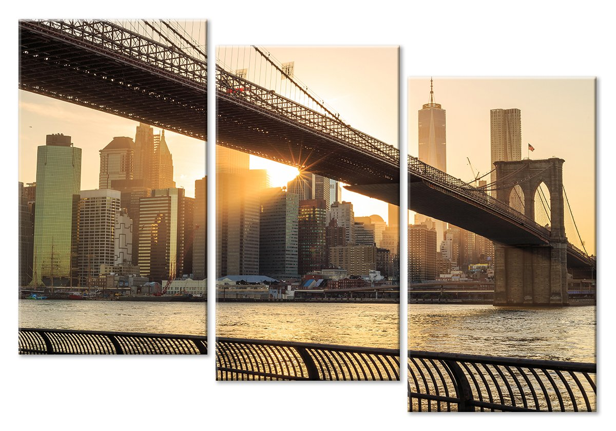 Модульная картина «Мост на фоне города»Города<br>Модульная картина на натуральном холсте и деревянном подрамнике. Подвес в комплекте. Трехслойная надежная упаковка. Доставим в любую точку России. Вам осталось только повесить картину на стену!<br>