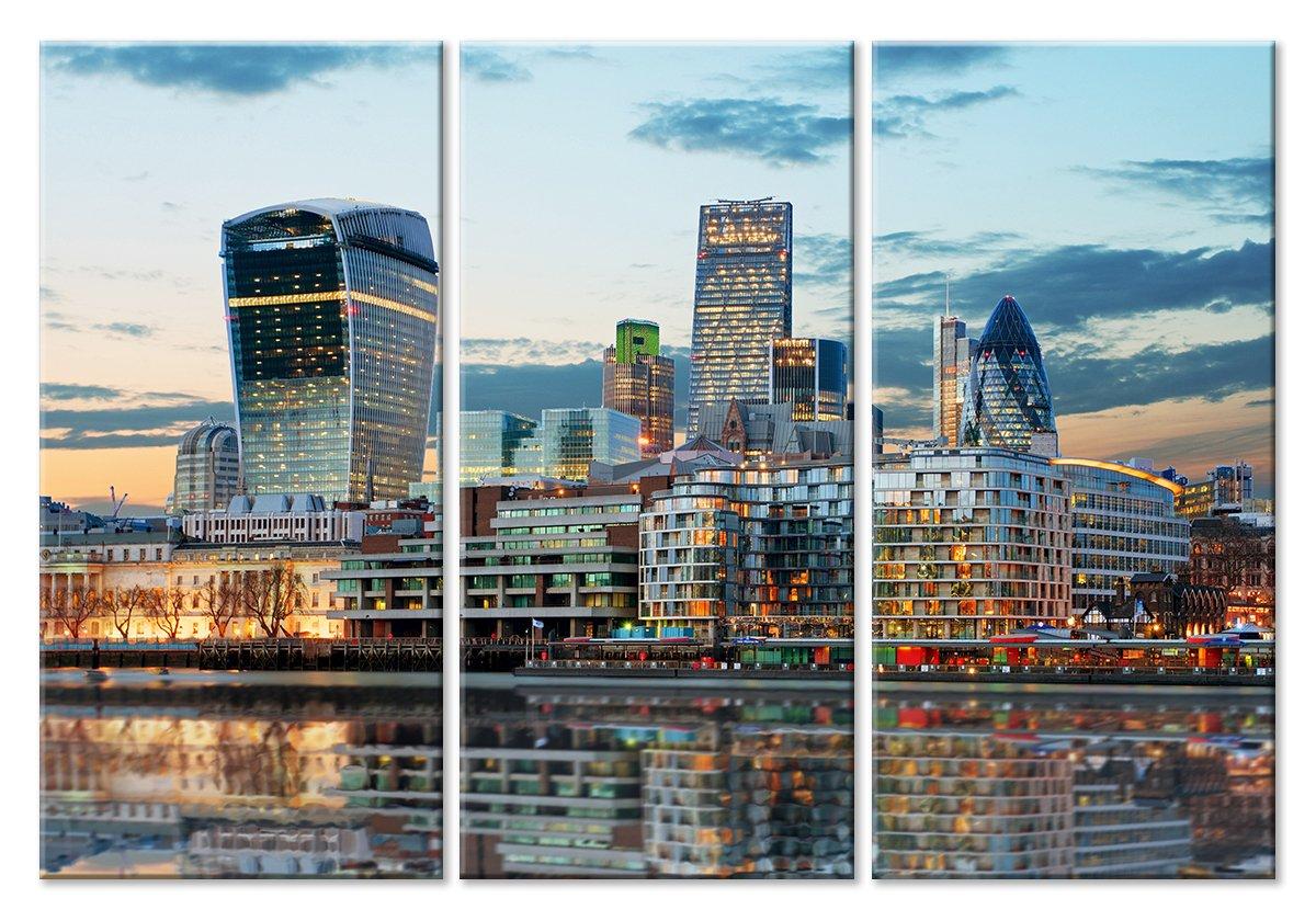 Модульная картина «Небоскребы Лондона»Города<br>Модульная картина на натуральном холсте и деревянном подрамнике. Подвес в комплекте. Трехслойная надежная упаковка. Доставим в любую точку России. Вам осталось только повесить картину на стену!<br>