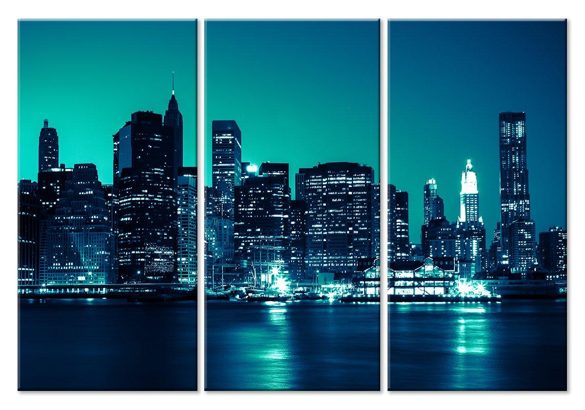 Модульная картина «Свет ночной жизни»Города<br>Модульная картина на натуральном холсте и деревянном подрамнике. Подвес в комплекте. Трехслойная надежная упаковка. Доставим в любую точку России. Вам осталось только повесить картину на стену!<br>