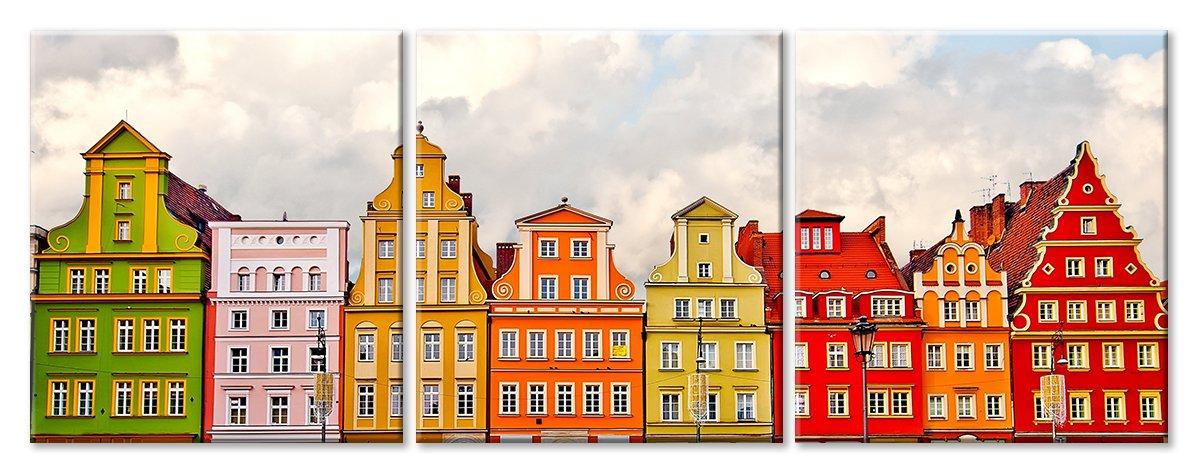 Модульная картина «Разноцветные соседи»Города<br>Модульная картина на натуральном холсте и деревянном подрамнике. Подвес в комплекте. Трехслойная надежная упаковка. Доставим в любую точку России. Вам осталось только повесить картину на стену!<br>