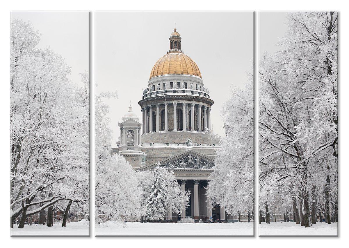 Модульная картина «Исаакиевский собор зимой»Города<br>Модульная картина на натуральном холсте и деревянном подрамнике. Подвес в комплекте. Трехслойная надежная упаковка. Доставим в любую точку России. Вам осталось только повесить картину на стену!<br>