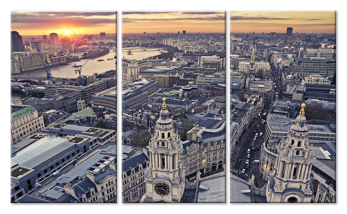 Модульная картина «Крыши Лондона»Города<br>Модульная картина на натуральном холсте и деревянном подрамнике. Подвес в комплекте. Трехслойная надежная упаковка. Доставим в любую точку России. Вам осталось только повесить картину на стену!<br>
