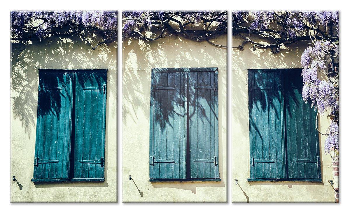 Модульная картина «Три окна»Города<br>Модульная картина на натуральном холсте и деревянном подрамнике. Подвес в комплекте. Трехслойная надежная упаковка. Доставим в любую точку России. Вам осталось только повесить картину на стену!<br>