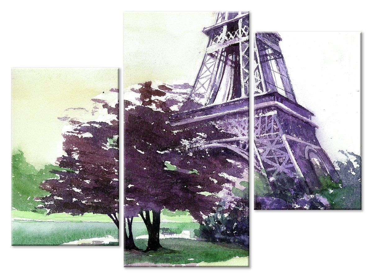 Модульная картина «Акварельный Париж»Города<br>Модульная картина на натуральном холсте и деревянном подрамнике. Подвес в комплекте. Трехслойная надежная упаковка. Доставим в любую точку России. Вам осталось только повесить картину на стену!<br>