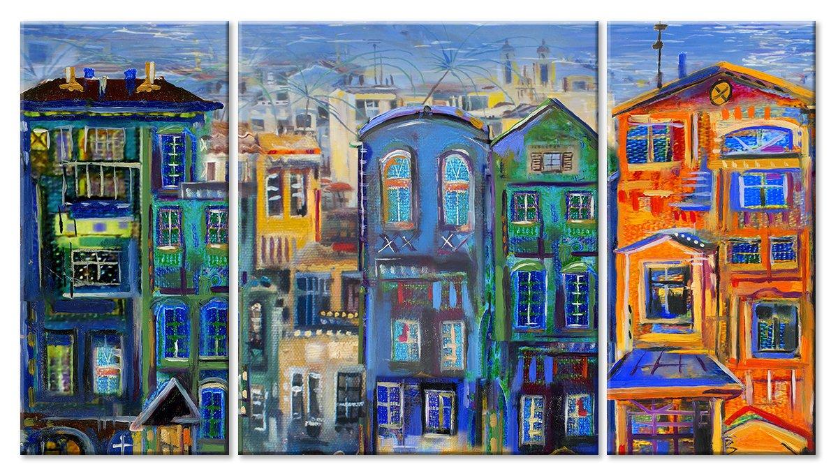 Модульная картина «Любимый город»Города<br>Модульная картина на натуральном холсте и деревянном подрамнике. Подвес в комплекте. Трехслойная надежная упаковка. Доставим в любую точку России. Вам осталось только повесить картину на стену!<br>