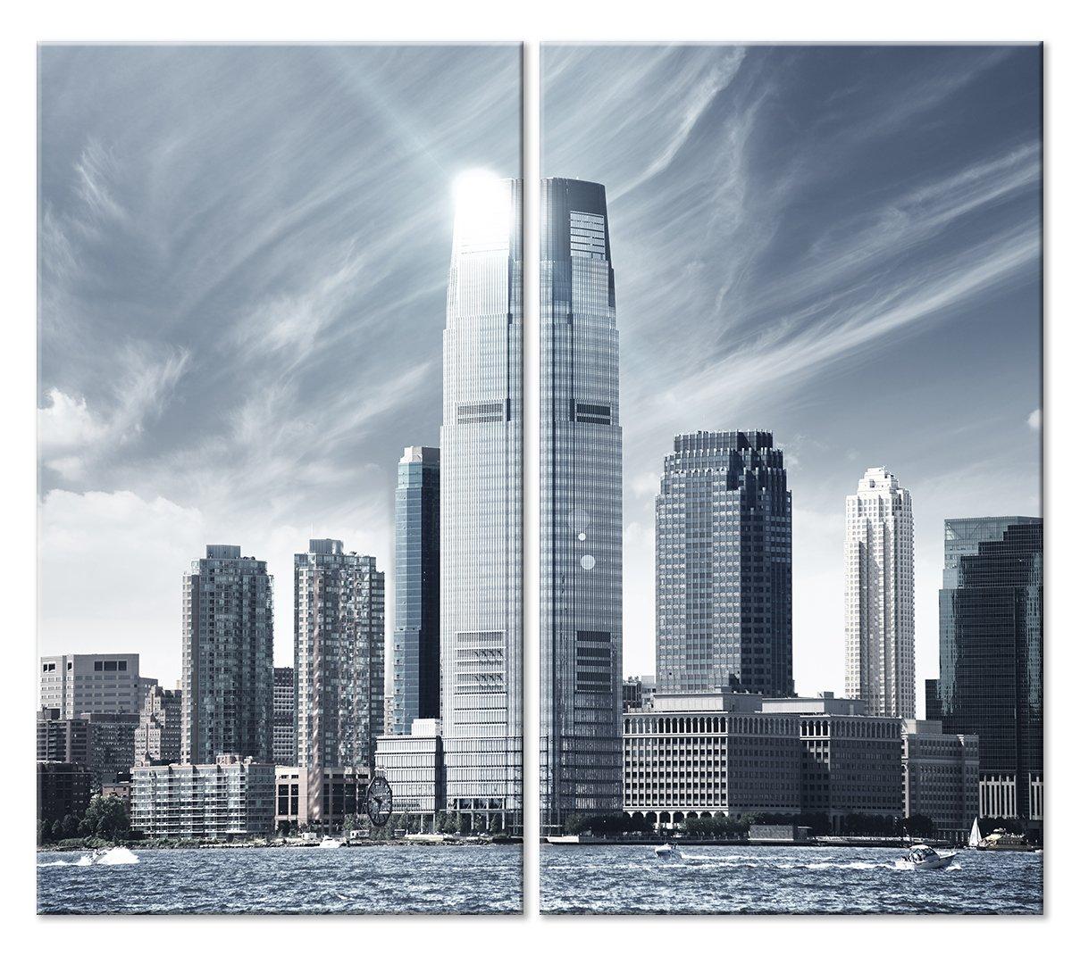 Модульная картина «Город», 56x50 см, модульная картинаГорода<br>Модульная картина на натуральном холсте и деревянном подрамнике. Подвес в комплекте. Трехслойная надежная упаковка. Доставим в любую точку России. Вам осталось только повесить картину на стену!<br>