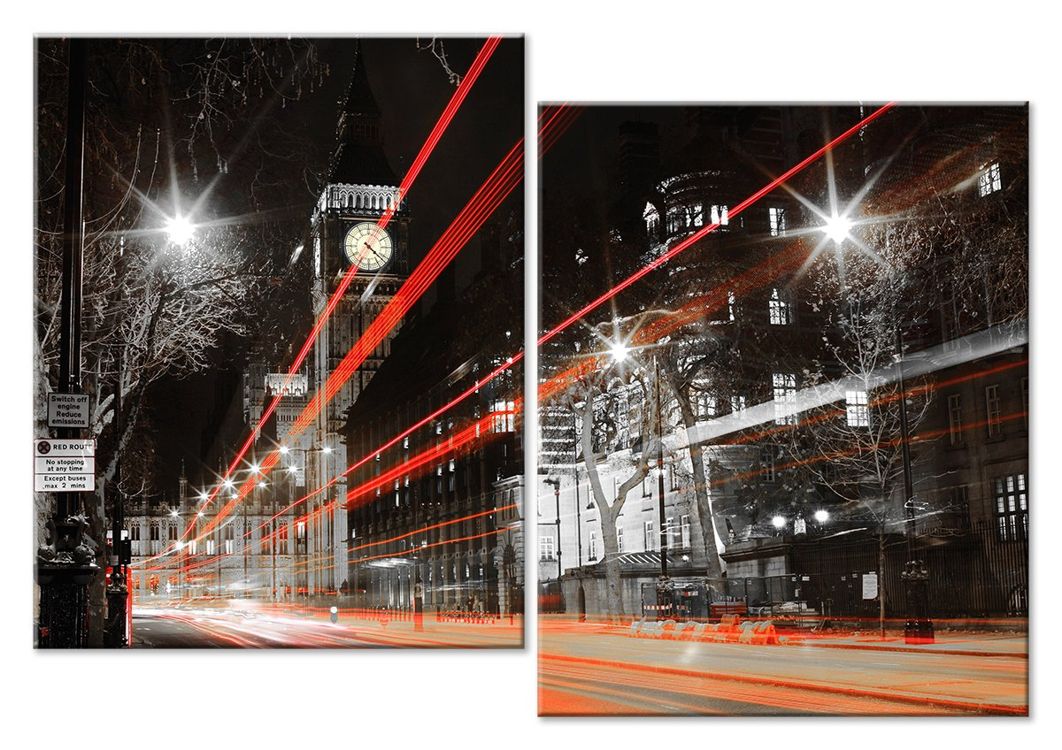 Модульная картина «Движение света»Города<br>Модульная картина на натуральном холсте и деревянном подрамнике. Подвес в комплекте. Трехслойная надежная упаковка. Доставим в любую точку России. Вам осталось только повесить картину на стену!<br>