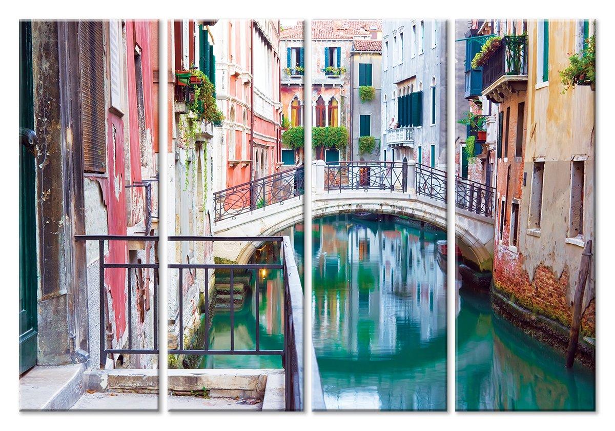 Модульная картина «Канал в Венеции»Города<br>Модульная картина на натуральном холсте и деревянном подрамнике. Подвес в комплекте. Трехслойная надежная упаковка. Доставим в любую точку России. Вам осталось только повесить картину на стену!<br>