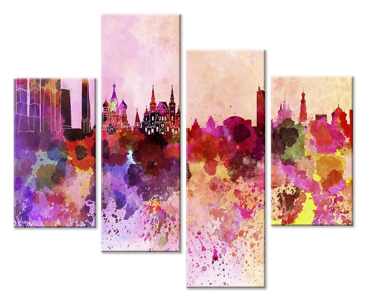 Модульная картина «Москва»Города<br>Модульная картина на натуральном холсте и деревянном подрамнике. Подвес в комплекте. Трехслойная надежная упаковка. Доставим в любую точку России. Вам осталось только повесить картину на стену!<br>