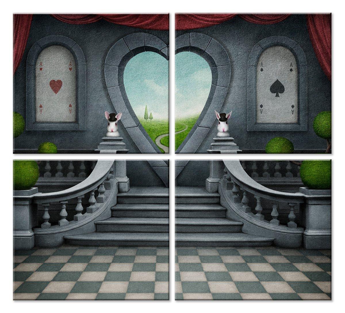 Модульная картина «Алиса в стране чудес»Детские<br>Модульная картина на натуральном холсте и деревянном подрамнике. Подвес в комплекте. Трехслойная надежная упаковка. Доставим в любую точку России. Вам осталось только повесить картину на стену!<br>