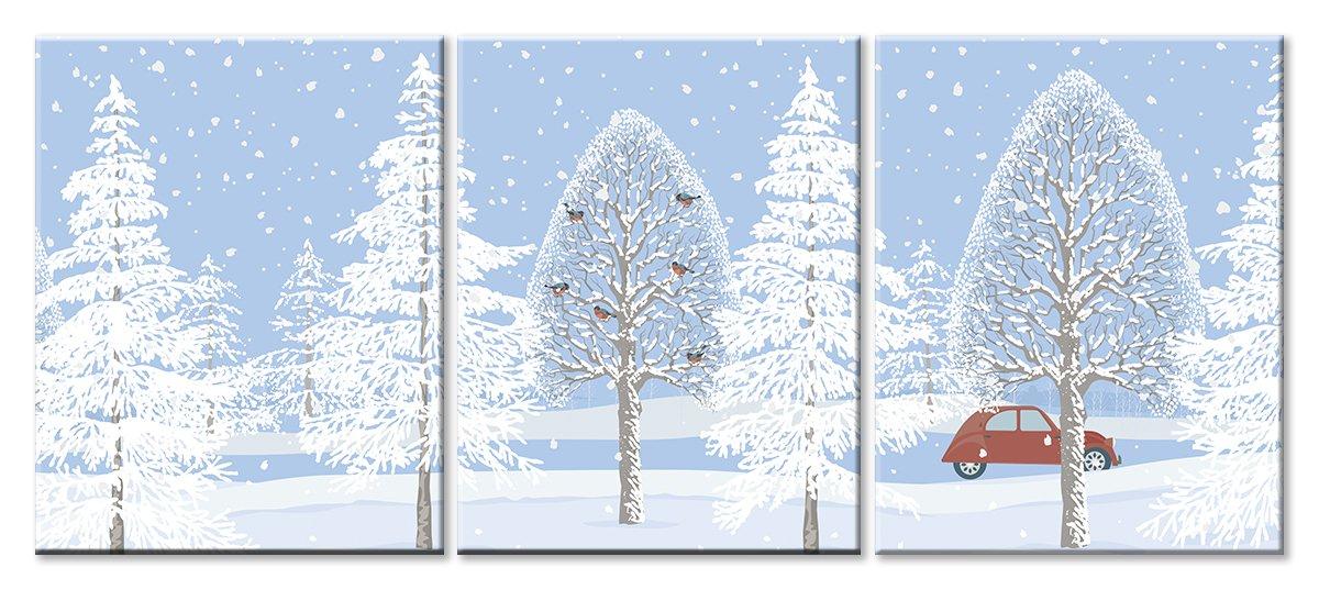 Модульная картина «Зимняя дорога»Детские<br>Модульная картина на натуральном холсте и деревянном подрамнике. Подвес в комплекте. Трехслойная надежная упаковка. Доставим в любую точку России. Вам осталось только повесить картину на стену!<br>