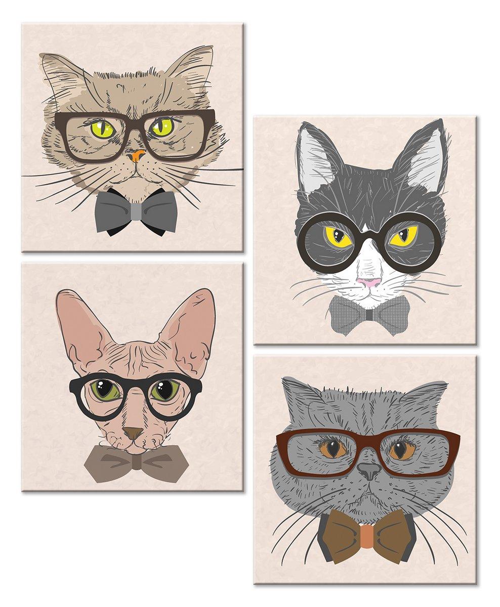 Модульная картина «Кошки»Детские<br>Модульная картина на натуральном холсте и деревянном подрамнике. Подвес в комплекте. Трехслойная надежная упаковка. Доставим в любую точку России. Вам осталось только повесить картину на стену!<br>