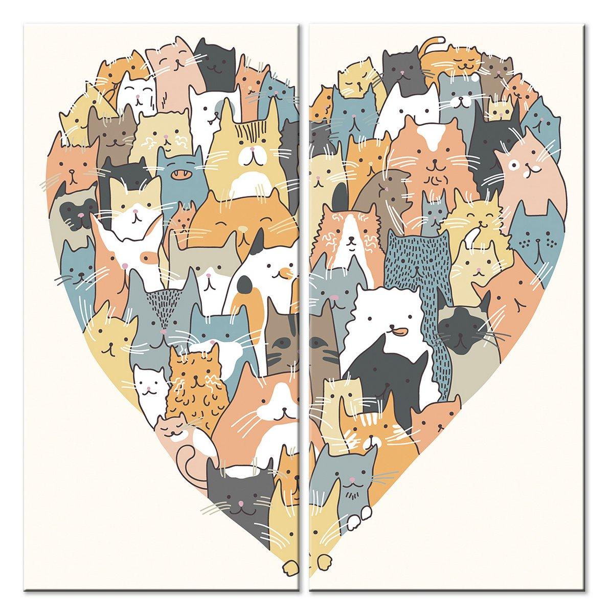 Модульная картина «Коты и кошки»Детские<br>Модульная картина на натуральном холсте и деревянном подрамнике. Подвес в комплекте. Трехслойная надежная упаковка. Доставим в любую точку России. Вам осталось только повесить картину на стену!<br>