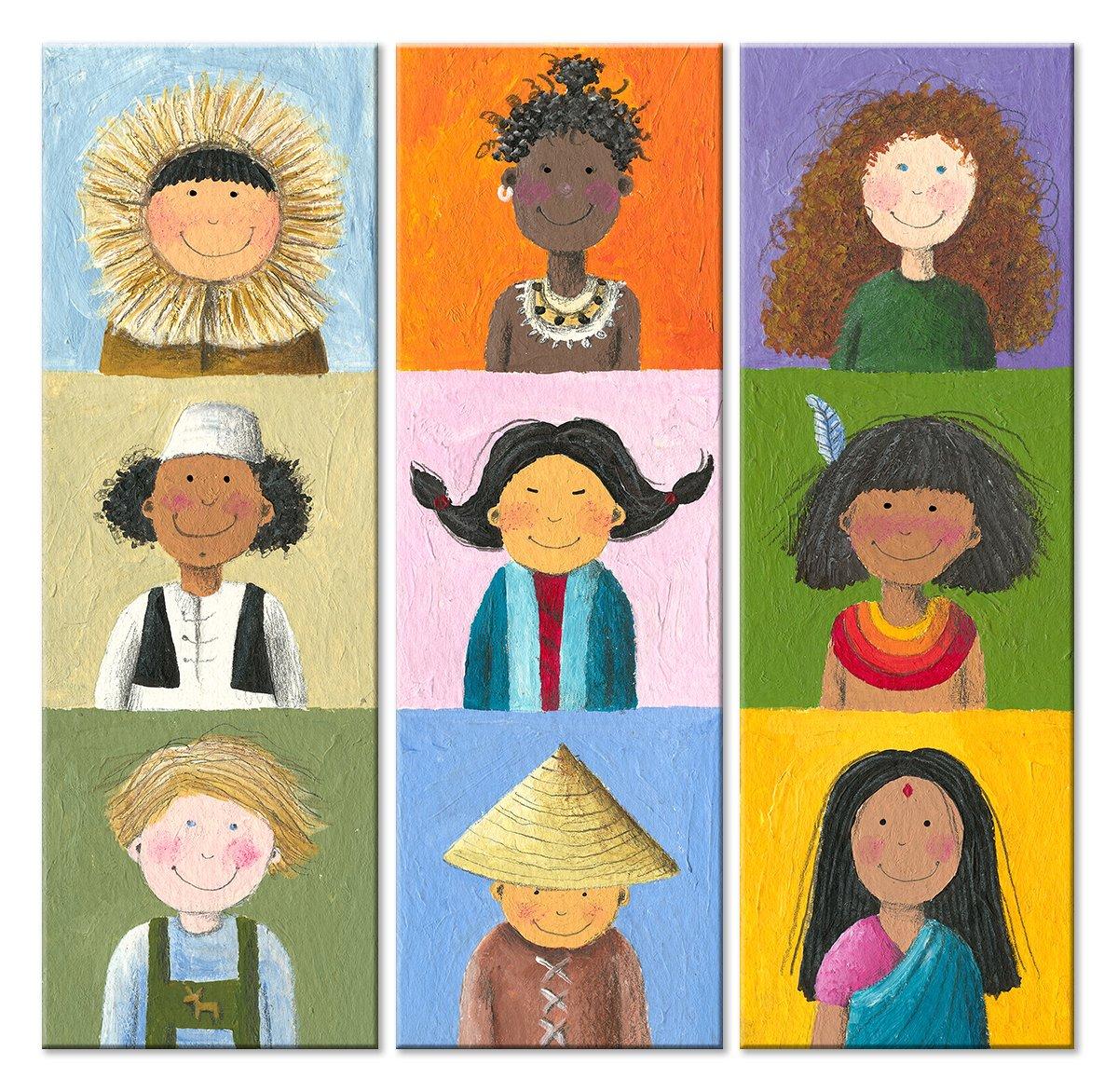 Модульная картина «Дети мира»Детские<br>Модульная картина на натуральном холсте и деревянном подрамнике. Подвес в комплекте. Трехслойная надежная упаковка. Доставим в любую точку России. Вам осталось только повесить картину на стену!<br>