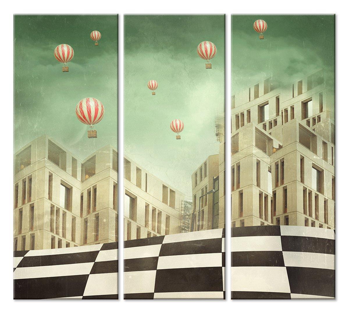 Модульная картина «Современный город»Детские<br>Модульная картина на натуральном холсте и деревянном подрамнике. Подвес в комплекте. Трехслойная надежная упаковка. Доставим в любую точку России. Вам осталось только повесить картину на стену!<br>