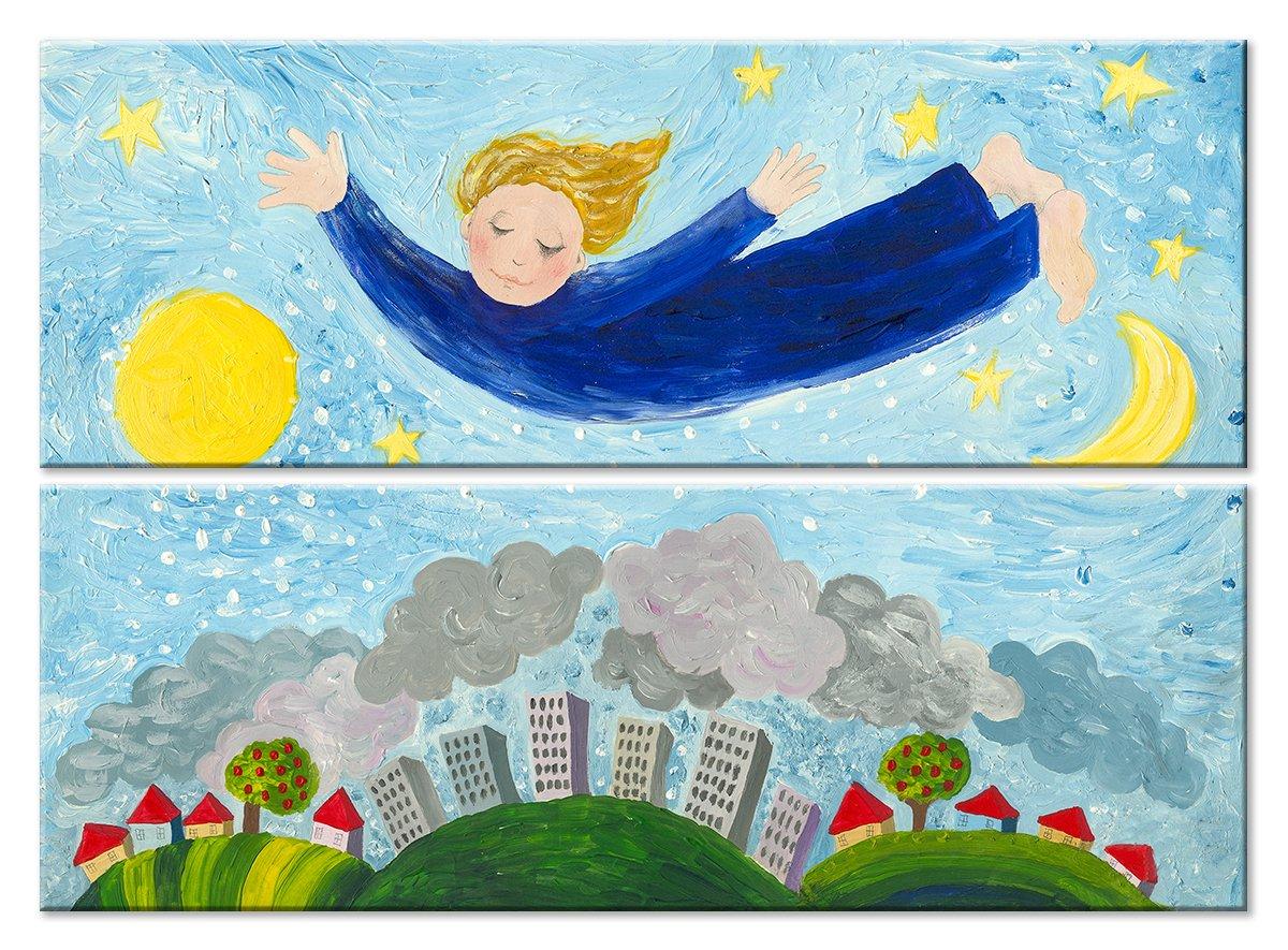 Модульная картина «Мполет во сне»Детские<br>Модульная картина на натуральном холсте и деревянном подрамнике. Подвес в комплекте. Трехслойная надежная упаковка. Доставим в любую точку России. Вам осталось только повесить картину на стену!<br>