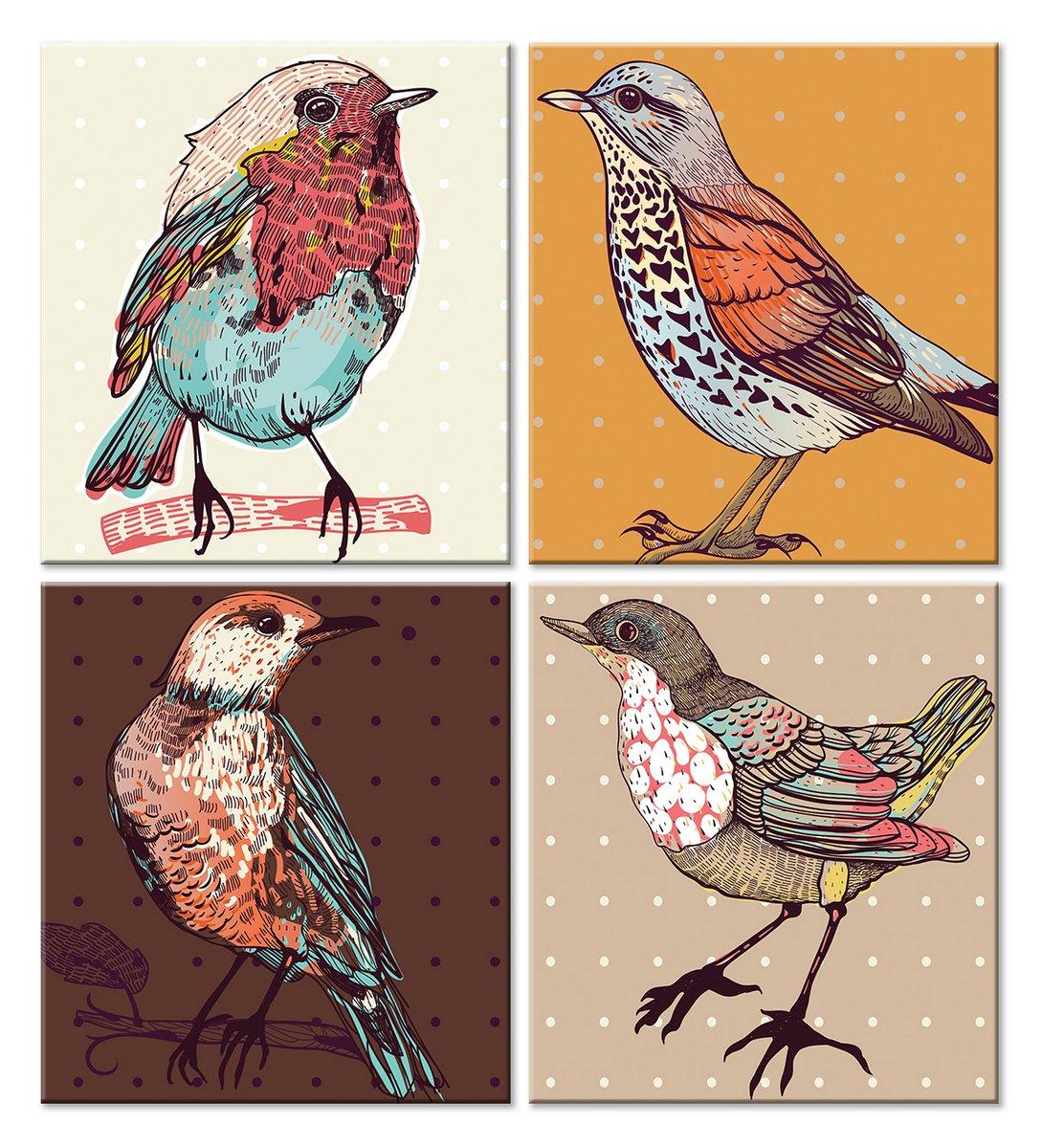 Модульная картина «Птицы»Детские<br>Модульная картина на натуральном холсте и деревянном подрамнике. Подвес в комплекте. Трехслойная надежная упаковка. Доставим в любую точку России. Вам осталось только повесить картину на стену!<br>