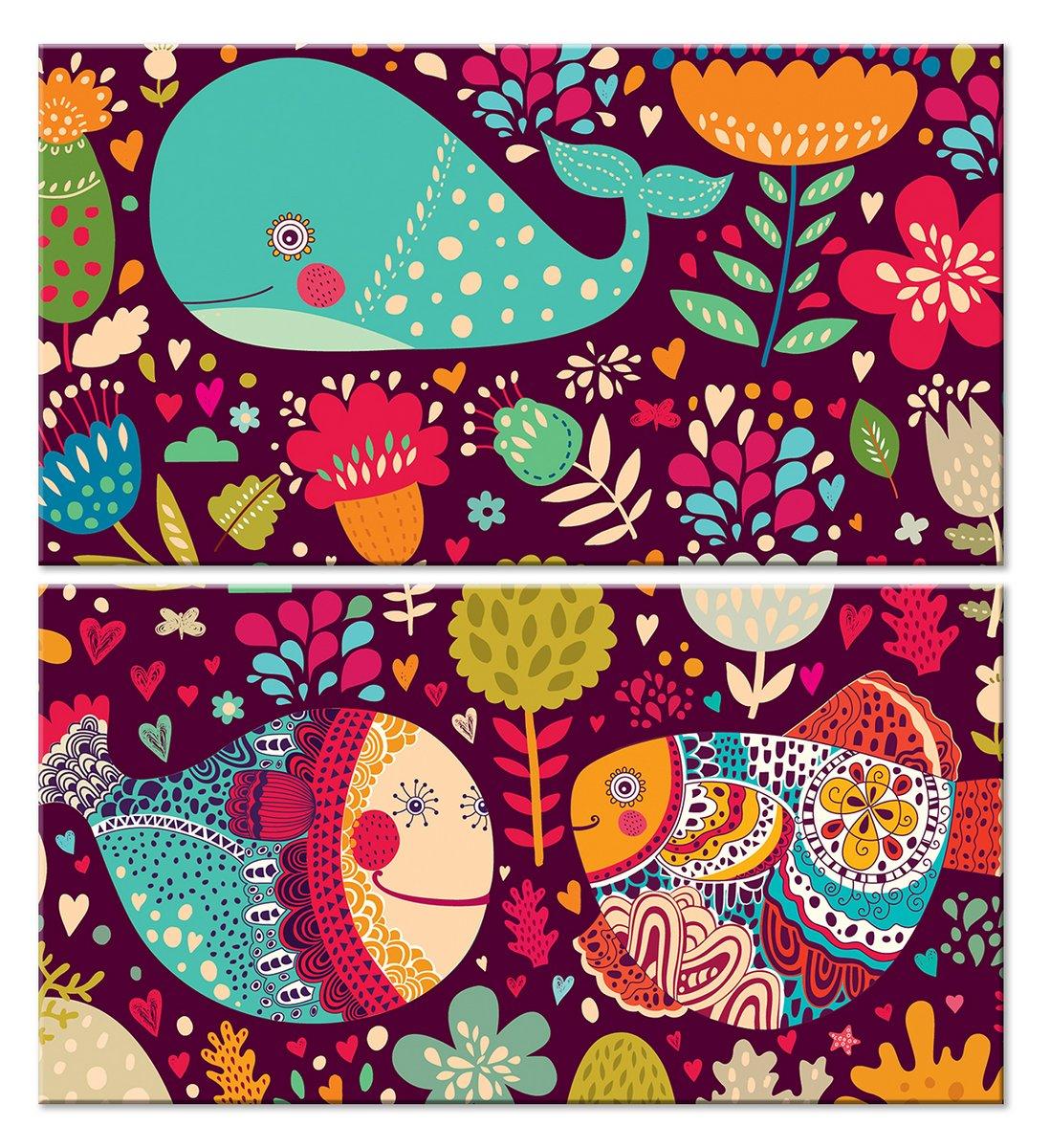 Модульная картина «Подводное царство»Детские<br>Модульная картина на натуральном холсте и деревянном подрамнике. Подвес в комплекте. Трехслойная надежная упаковка. Доставим в любую точку России. Вам осталось только повесить картину на стену!<br>