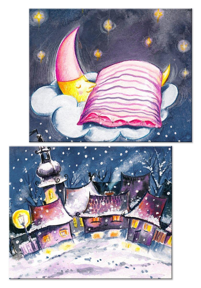Модульная картина «Город спит»Детские<br>Модульная картина на натуральном холсте и деревянном подрамнике. Подвес в комплекте. Трехслойная надежная упаковка. Доставим в любую точку России. Вам осталось только повесить картину на стену!<br>