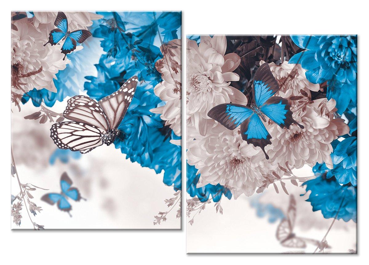 Модульная картина «Белое и голубое»Животные и птицы<br>Модульная картина на натуральном холсте и деревянном подрамнике. Подвес в комплекте. Трехслойная надежная упаковка. Доставим в любую точку России. Вам осталось только повесить картину на стену!<br>