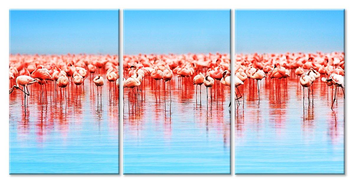 Модульная картина «Фламинго»Животные и птицы<br>Модульная картина на натуральном холсте и деревянном подрамнике. Подвес в комплекте. Трехслойная надежная упаковка. Доставим в любую точку России. Вам осталось только повесить картину на стену!<br>