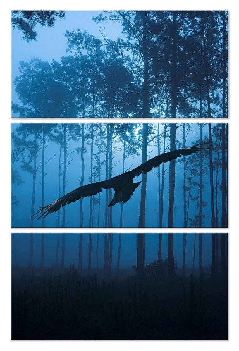 Модульная картина «Ночная охота»Животные и птицы<br>Модульная картина на натуральном холсте и деревянном подрамнике. Подвес в комплекте. Трехслойная надежная упаковка. Доставим в любую точку России. Вам осталось только повесить картину на стену!<br>