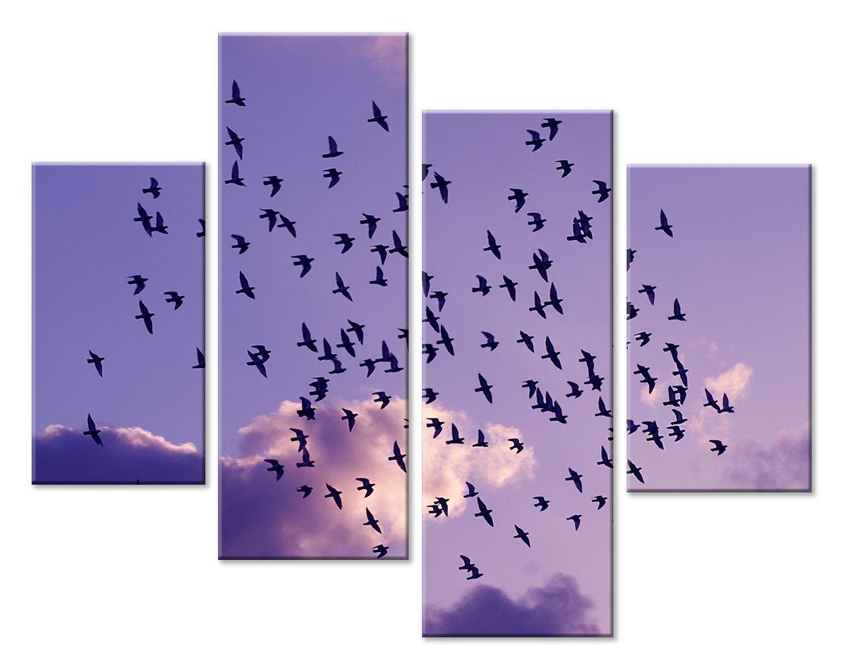 Модульная картина «На закат», 63x50 см, модульная картинаЖивотные и птицы<br>Модульная картина на натуральном холсте и деревянном подрамнике. Подвес в комплекте. Трехслойная надежная упаковка. Доставим в любую точку России. Вам осталось только повесить картину на стену!<br>