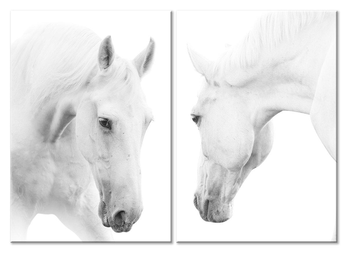 Модульная картина «Белые лошади»Животные и птицы<br>Модульная картина на натуральном холсте и деревянном подрамнике. Подвес в комплекте. Трехслойная надежная упаковка. Доставим в любую точку России. Вам осталось только повесить картину на стену!<br>