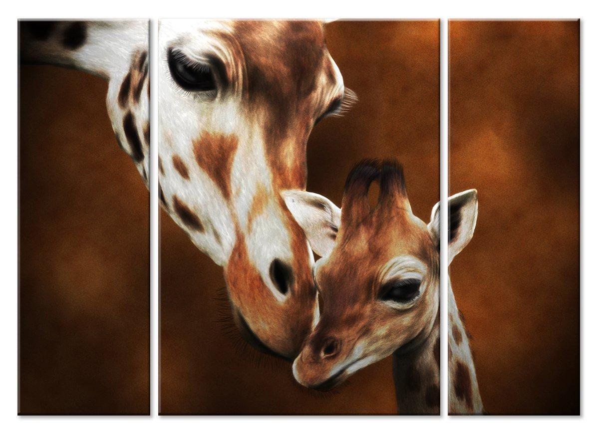 Модульная картина «Дитя и мать»Животные и птицы<br>Модульная картина на натуральном холсте и деревянном подрамнике. Подвес в комплекте. Трехслойная надежная упаковка. Доставим в любую точку России. Вам осталось только повесить картину на стену!<br>