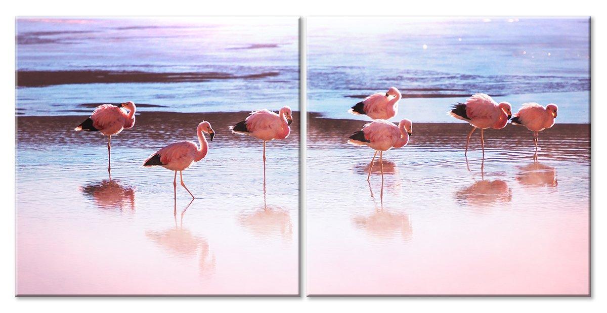 Модульная картина «Легкость фламинго»Животные и птицы<br>Модульная картина на натуральном холсте и деревянном подрамнике. Подвес в комплекте. Трехслойная надежная упаковка. Доставим в любую точку России. Вам осталось только повесить картину на стену!<br>