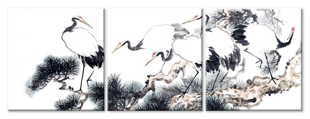 Модульная картина «Аисты», 130x50 см, модульная картинаЖивотные и птицы<br>Модульная картина на натуральном холсте и деревянном подрамнике. Подвес в комплекте. Трехслойная надежная упаковка. Доставим в любую точку России. Вам осталось только повесить картину на стену!<br>