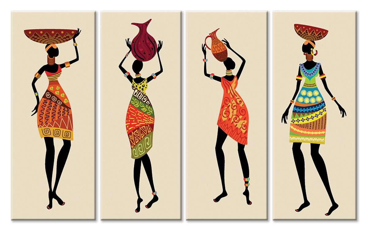 Модульная картина «Женщины»Африканские мотивы<br>Модульная картина на натуральном холсте и деревянном подрамнике. Подвес в комплекте. Трехслойная надежная упаковка. Доставим в любую точку России. Вам осталось только повесить картину на стену!<br>
