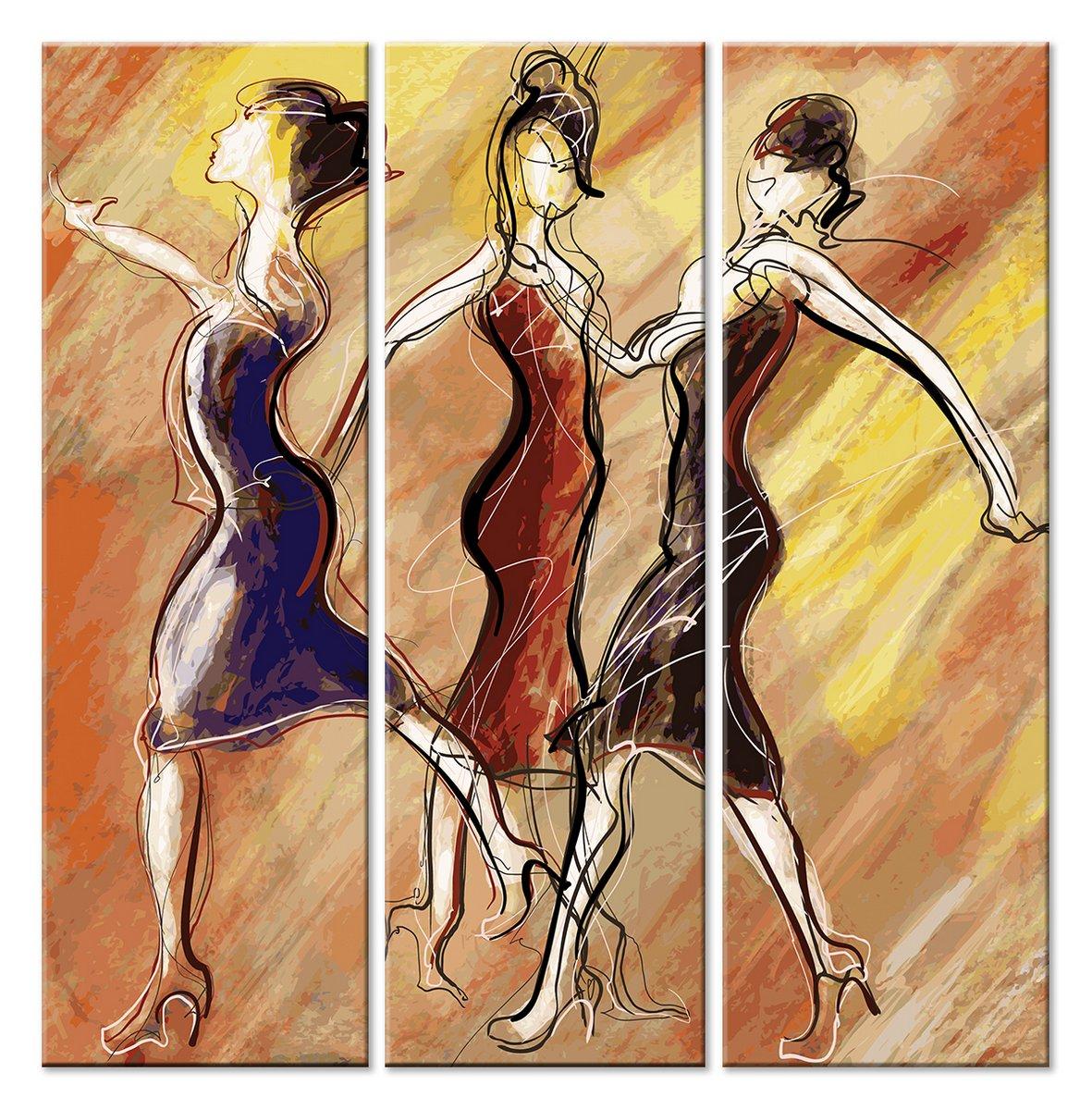 Модульная картина «Танцы»Люди<br>Модульная картина на натуральном холсте и деревянном подрамнике. Подвес в комплекте. Трехслойная надежная упаковка. Доставим в любую точку России. Вам осталось только повесить картину на стену!<br>