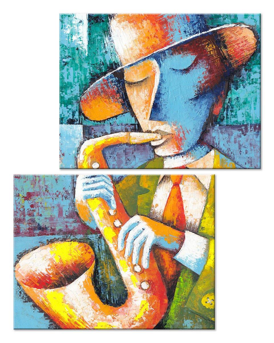 Модульная картина «Музыкант»Люди<br>Модульная картина на натуральном холсте и деревянном подрамнике. Подвес в комплекте. Трехслойная надежная упаковка. Доставим в любую точку России. Вам осталось только повесить картину на стену!<br>